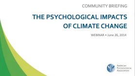 The Psychological Impacts of Climate Change Webinar