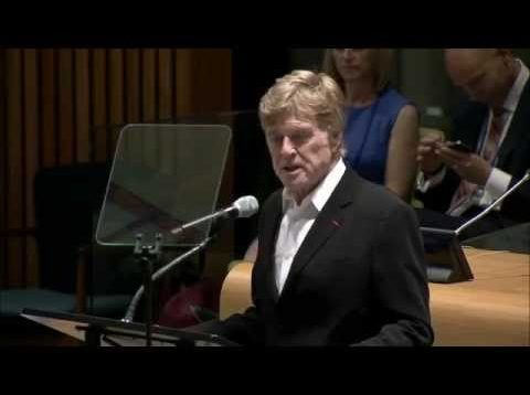 Robert Redford, Actor and longtime conservationist at the High-level event on Climate Change