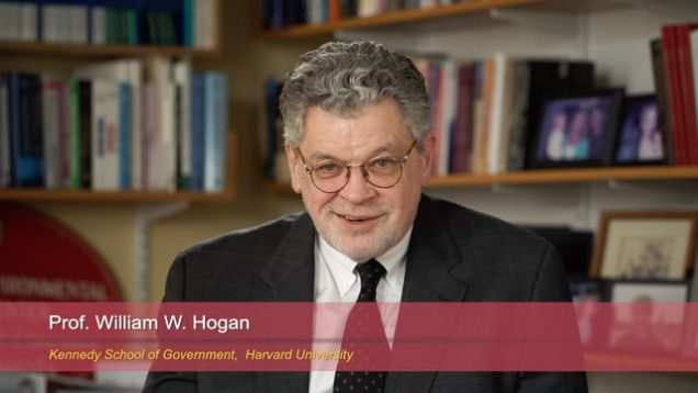 "Harvard Speaks on Climate Change. William Hogan: ""Integrating Renewables into Energy Markets"""