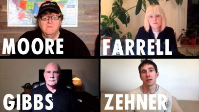 Michael Moore in a live discussion with Extinction Rebellion co-founder Clare Farrell